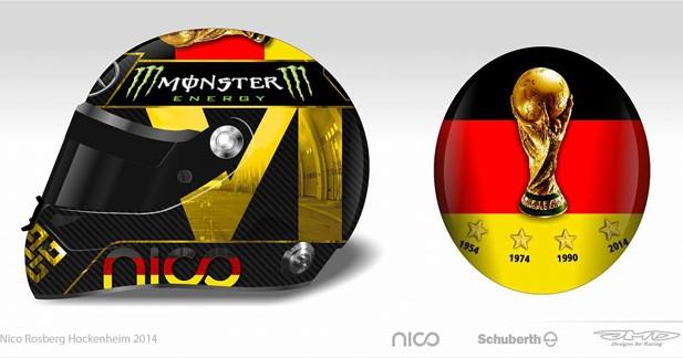 Le casque spécial de Nico Rosberg pour le GP d'Allemagne