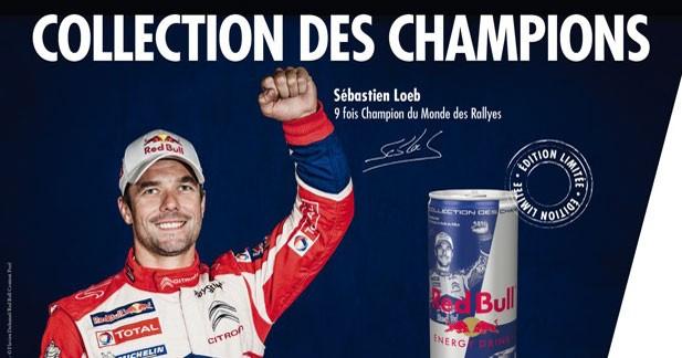 Sébastien Loeb en version canette chez Red Bull
