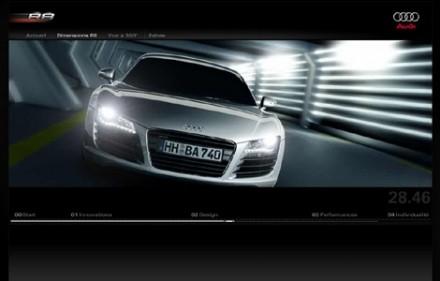 Un mini site splendide pour l'Audi R8