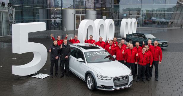 La technologie Audi Quattro passe le cap des 5 millions de véhicules équipés