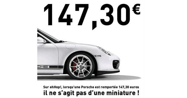 Une Porsche remportée aux enchères pour 147,30 euros !