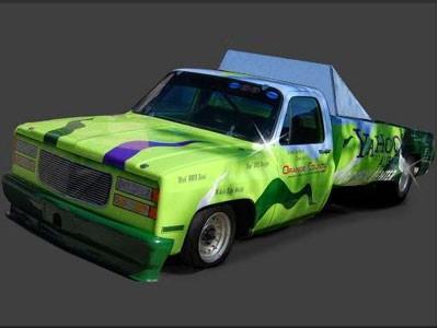 """Un pick-up """" vert """" de 3 000 ch !"""