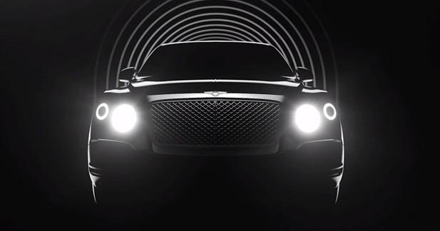 Un profil de coupé pour le futur SUV Bentley