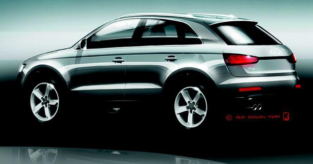 Premières esquisses de l'Audi Q3