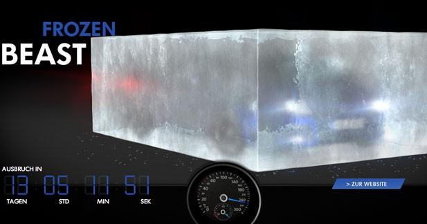 Le concept Golf R de Volkswagen coincé dans la glace