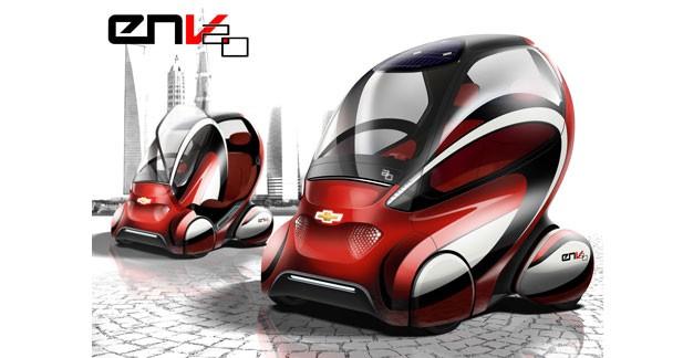 EN-V 2.0 : GM fait évoluer sa navette électrique à Pékin