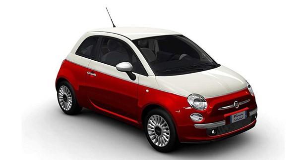 La Fiat 500 voit la vie en rouge et blanc