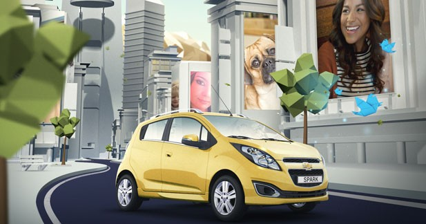 La Chevrolet Spark en mode virtuel dans Spark Social City