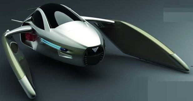 un tonnant projet de voiture volante en chine. Black Bedroom Furniture Sets. Home Design Ideas