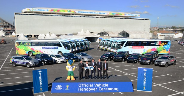 Coupe du Monde de Foot : 1 431 Hyundai et Kia officielles entrent en scène au Brésil
