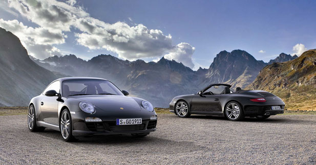 911 Black Edition : une série spéciale chez Porsche pour la Carrera coupé et cabriolet