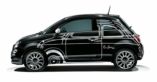 la fiat 500 ron arad edition en vente sur showroompriv. Black Bedroom Furniture Sets. Home Design Ideas