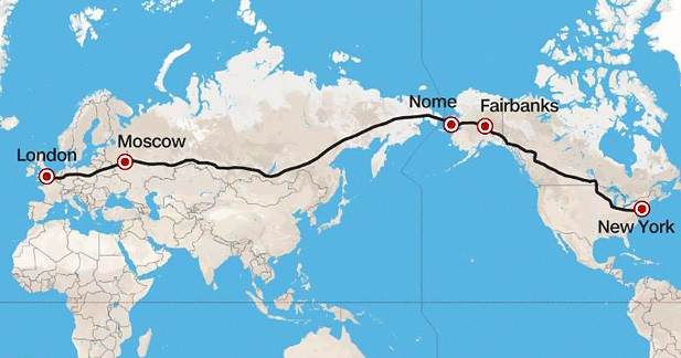 Pourquoi ne pas relier Londres à New York... par la route?
