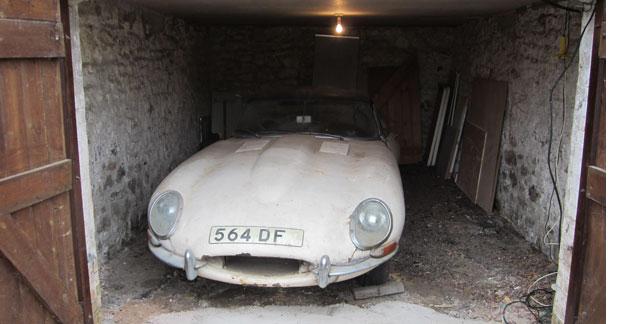 130 000 € pour une Jaguar Type E oubliée pendant 30 ans