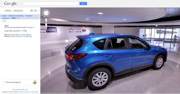 Le musée Mazda visible grâce à Google Street View