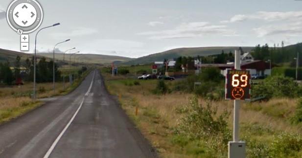 Insolite : une Google Car car se photographie en excès de vitesse en Islande