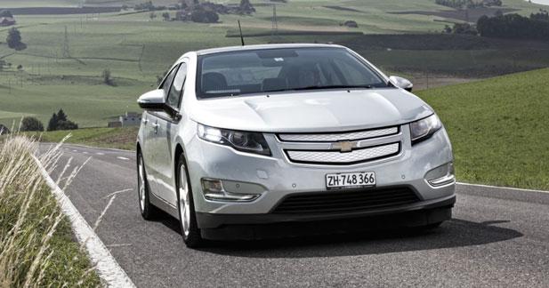 5 étoiles EuroNCAP pour la Chevrolet Volt