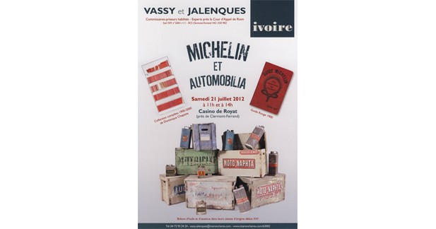 Vente Michelin et Automobilia : la collection de Guides Michelin de D.Chapatte en vente