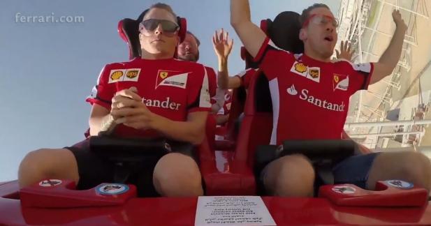 Vettel et Räikkönen retombent en enfance au Ferrari World