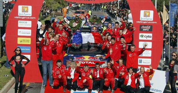 WRC Chypre : Loeb et Elena passent le cap des 50 victoires en WRC