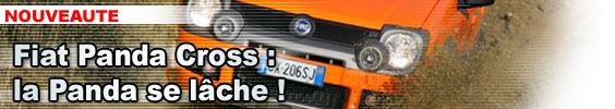 Fiat Panda Cross : la Panda 4x4 se lâche...