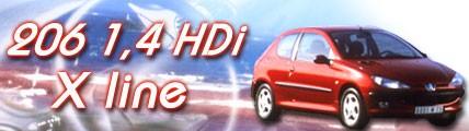 206 1.4 HDI X Line