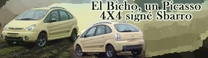 El bicho, Un Picasso 4x4 signé Sbarro