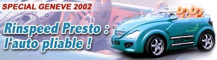 Rinspeed Presto : l'auto pliable !