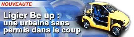 Ligier Be up : une urbaine sans permis dans le coup !