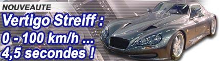 Vertigo Streiff : Formule 1 de la route