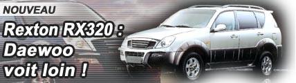 Rexton RX 320 : Daewoo voit loin
