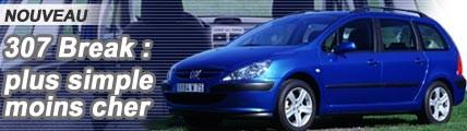 Peugeot 307 Break, plus simple et moins cher