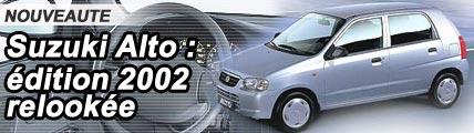 Suzuki Alto : édition 2002 relookée !