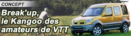 Break'up le Kangoo des amateurs de VTT