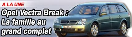 Opel Vectra Break : La famille au grand complet