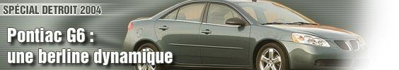 Pontiac G6 : une berline dynamique