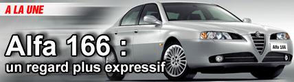 Alfa 166 : un regard plus expressif