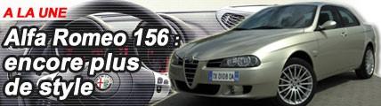 Alfa Romeo 156 : encore plus de style