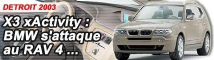 X3 xActivity : BMW s'attaque au RAV4