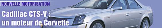 Cadillac CTS-V : un moteur de Corvette