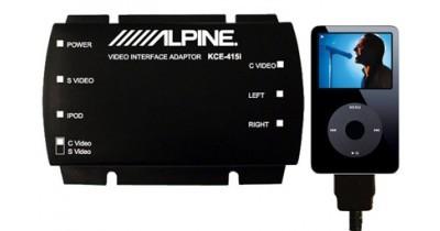 Adaptateur pour iPod Video chez Alpine, le KCE-415i