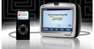 Branchez un iPod sur votre TomTom GO
