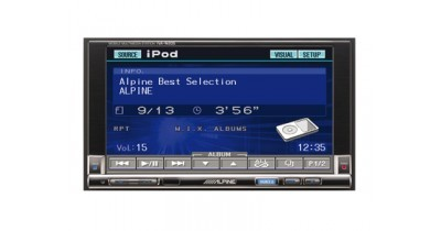 CES 2007 - Le nouveau double DIN Alpine avale un GPS portable