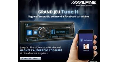 Grand concours TuneIt sur la page Facebook d'Alpine France