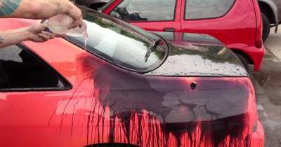 Une voiture qui change de couleur en fonction de la température
