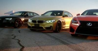 La Lexus RC-F meilleure que la BMW M4 et l'Audi RS5 sur circuit ?