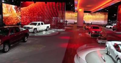 Detroit 2015 : le stand Chevrolet vu par un drone