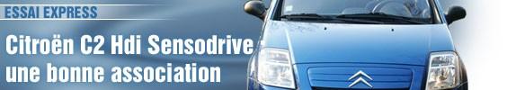 Essai Express/ Citroën C2 Hdi Sensodrive : une bonne association