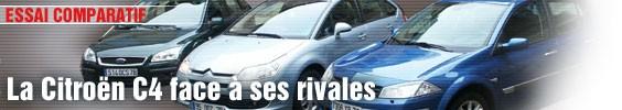 Essai Comparatif/ La Citroën C4 face à ses rivales
