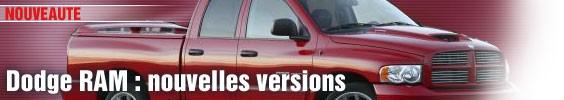 Dodge Ram : nouvelles versions